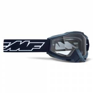 100% FMF Powerbomb Rocket Black Clear Lens Motocross Goggles