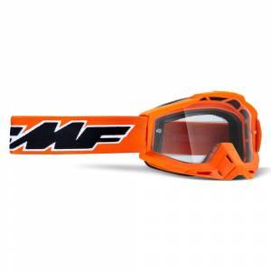 100% FMF Powerbomb Rocket Orange Clear Lens Motocross Goggles