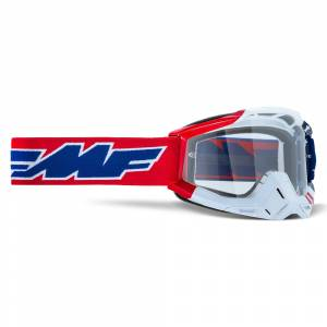 100% FMF Powerbomb US of A Clear Lens Motocross Goggles