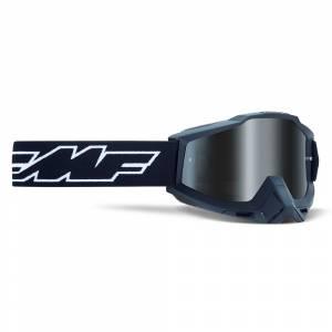 100% FMF Kids Powerbomb Rocket Black Silver Mirror Lens Motocross Goggles