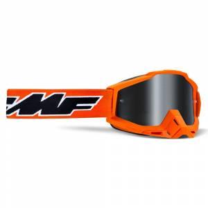 100% FMF Powerbomb Rocket Orange Silver Mirror Lens Motocross Goggles