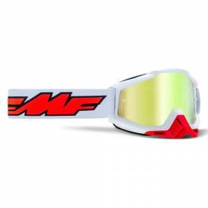 100% FMF Powerbomb Rocket White True Gold Mirror Lens Motocross Goggles