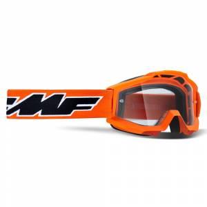 100% FMF Kids Powerbomb Rocket Orange Clear Lens Motocross Goggles