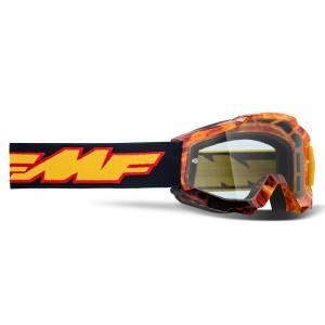 100% FMF Kids Powerbomb Spark Clear Lens Motocross Goggles