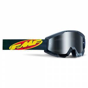 100% FMF Powercore Core Black Silver Mirror Lens Motocross Goggles