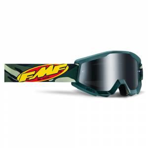 100% FMF Powercore Assault Camo Silver Mirror Lens Motocross Goggles