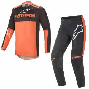 Alpinestars Fluid Tripple Black Orange Motocross Kit Combo