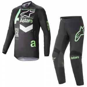 Alpinestars Fluid Chaser Black Mint Motocross Kit Combo