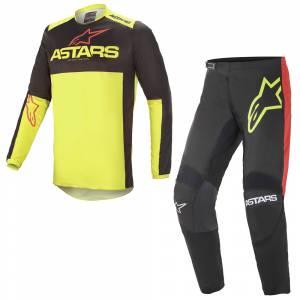 Alpinestars Fluid Tripple Black Yellow Red Motocross Kit Combo