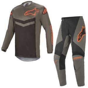Alpinestars Fluid Speed Dark Grey Orange Motocross Kit Combo