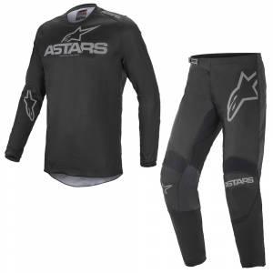 Alpinestars Fluid Graphite Black Grey Motocross Kit Combo