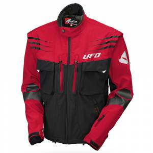 UFO Taiga Red Black Enduro Jacket