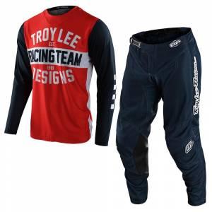 Troy Lee Designs GP Air Team 81 Orange Navy Motocross Kit Combo