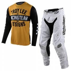 Troy Lee Designs GP Air Team 81 Yellow Black Motocross Kit Combo