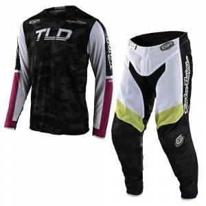 Troy Lee Designs GP Air Veloce Camo Black Glo Green Motocross Kit Combo