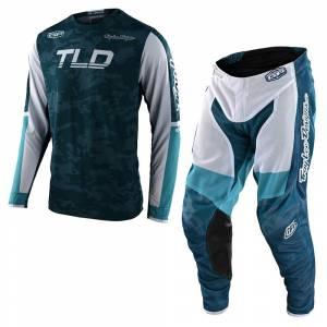 Troy Lee Designs GP Air Veloce Camo Marine Motocross Kit Combo