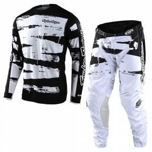 Troy Lee Designs GP Brushed Black White Motocross Kit Combo