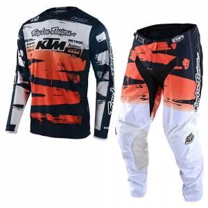 Troy Lee Designs GP Brushed Team Navy Orange Motocross Kit Combo