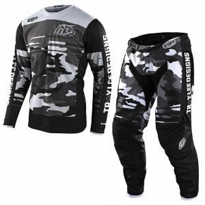 Troy Lee Designs GP Formula Camo Black Grey Motocross Kit Combo