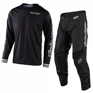 Troy Lee Designs GP Mono Black Motocross Kit Combo