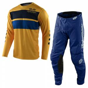 Troy Lee Designs GP Racing Stripe Yellow Motocross Kit Combo