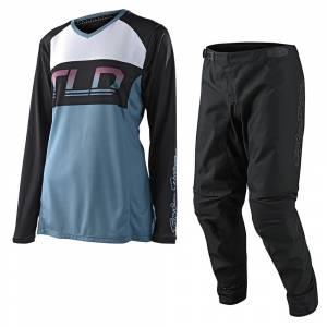 Troy Lee Designs GP Icon Smokey Blue Women's Motocross Kit Combo