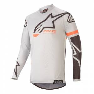 Alpinestars Kids Racer Compass Grey Black Motocross Jersey