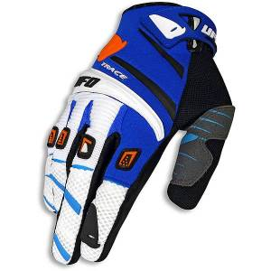 UFO Adult Trace Gloves - Blue White Orange