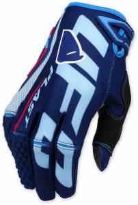 UFO Blaze Blue Motocross Gloves