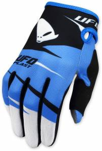 UFO Blue Black Revolt Motocross Gloves
