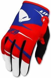 UFO Kids Revolt Red Blue Motocross Gloves