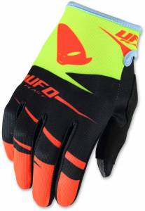 UFO Kids Hydra Black Red Yellow Motocross Gloves