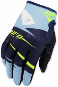 UFO Kids Hydra Blue Yellow Motocross Gloves