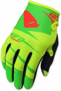 UFO Kids Hydra Yellow Green Motocross Gloves