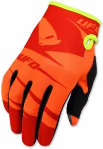 UFO Kids Hydra Orange Motocross Gloves