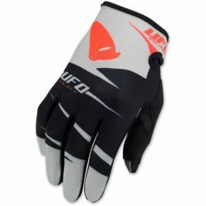 UFO Kids Hydra Black Grey Red Motocross Gloves