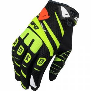 UFO Trace Black Yellow Motocross Gloves