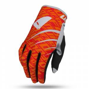 UFO Indium Neon Red Motocross Gloves