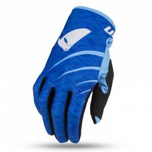 UFO Indium Blue Motocross Gloves