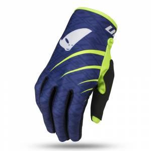 UFO Indium Blue Neon Yellow Motocross Gloves