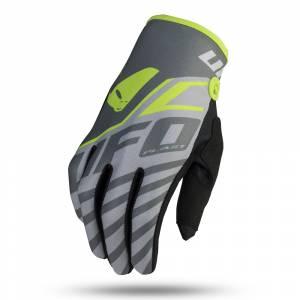 UFO Vanadium Grey Neon Yellow Motocross Gloves