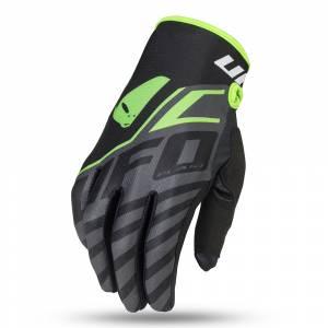 UFO Vanadium Black Neon Green Motocross Gloves