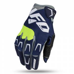 UFO Iridium Blue Motocross Gloves
