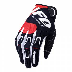 UFO Iridium Black Red Motocross Gloves