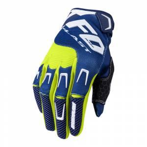 UFO Iridium Blue Yellow Motocross Gloves