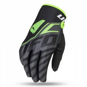 UFO Kids Vanadium Black Neon Green Motocross Gloves