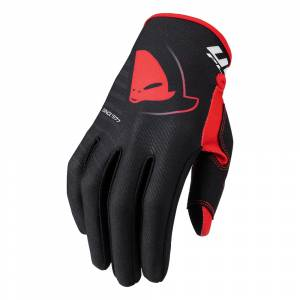 UFO Skill Kimura Black Red Motocross Gloves