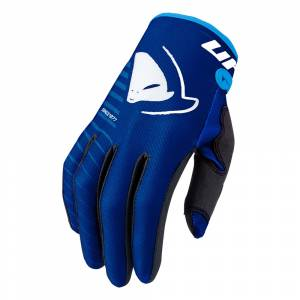 UFO Kids Skill Kimura Blue Motocross Gloves