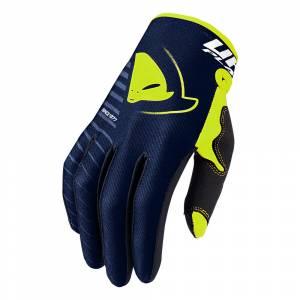 UFO Kids Skill Kimura Blue Yellow Motocross Gloves