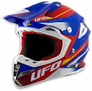 UFO Warrior Motocross Helmet - Hot Run